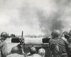 GIs of the 7th Infantry Division landing on Kwajalein