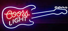 Coors Light Guitar Neon Sign Glass Tube Neon Light