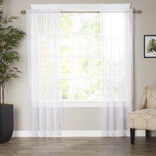 Wayfair Basics Sheer Curtain Panels (Set of 2)