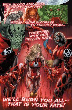 Superhero Characters, Dc Comics Characters, Dc Comics Art, Comics Girls, Comic Book Covers, Comic Books Art, Red Lantern Corps, Batman Artwork, Mundo Comic