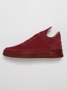 Filling Pieces Low Top - Maroon | Crämer & Co.