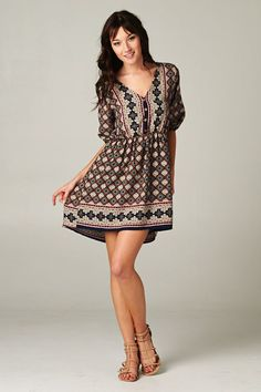 Super Cute Tunic Dress - this would be cute with navy tights and cute kitten heels or flats.