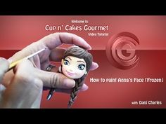 ▶ How to pain Anna's face (Frozen) for gumpaste or cold porcelain (any type of modeling ) - YouTube