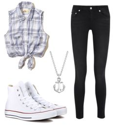 Plaid with converse