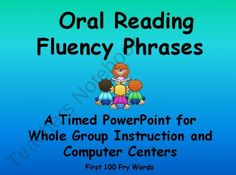 Fluency Phrases- A Timed PowerPoint~ Centers or Whole Group product from Creative-Lesson-Cafe on TeachersNotebook.com