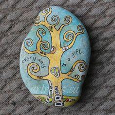https://flic.kr/p/e64Gz3   Klimt on a rock!   ArtRocks Inspired Stone with Klimt tree! artrocks.ca