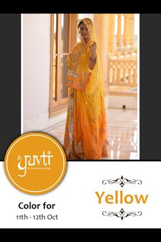 Color of the poshak for 11th and 12th October is YELLOW. Please post your photographs on the Facebook page of Yuvti not on the event page.  #yuvti #diwalicontest #rajputiposhak