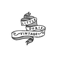 Past Work: Little Doris Vintage logo design 2013. #logotypedesign #handdrawntype #handlettering #logodesign #logo #vintagelogo #illustration #graphicdesign by leerobsonspence