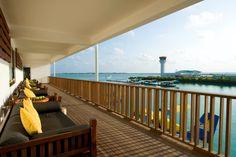 Sea plane lounge at Hilton Maldives Irufushi Resort & Spa -->> www.voyagewave.com