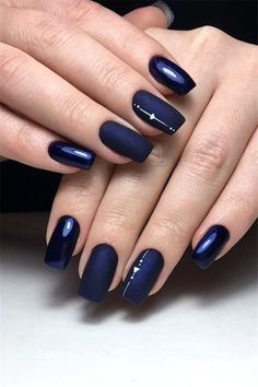 77 Stylish Simple Geometric Designs Trendy Ideas for 2019 nail art blue - Nail Art 77 Stylish Simple Geometric Nail Art Designs Trendy Ideas For 2019 Beautiful Nail Designs, Beautiful Nail Art, Cute Nails, Pretty Nails, Gel Nails, Acrylic Nails, Nail Polish, Coffin Nails, Navy Blue Nails