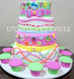 Etelvinne's Cakes: BOLO DA LALALOOPSY - 4 ANDARES - VERDADEIRO E FAKE