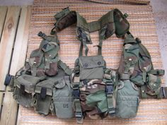 LBV-88 setup on ALICE buckled belt with: IFAK kit 2x M16 Pouches 2x US Canteens LBV-88 Woodland Buttpack Compass Pouch