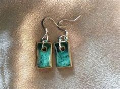 Pottery Earrings with small beads