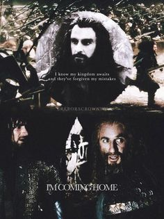 """tell the world, I'm coming h o m e"" #thehobbit"