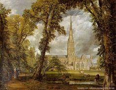 John Constable – La cattedrale di Salisbury vista dai terreni del vescovo, 1823