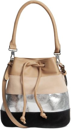 H&M Bucket Bag with Suede Details ($35)