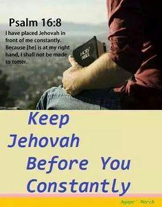 Keep close to Jehovah ....server the true God ....Zephaniah 2:3....
