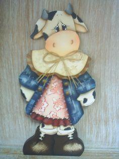 Vaca porta rolo de papel