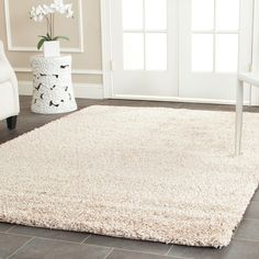 Safavieh Cozy Beige Shag Rug (8' x 10') - Overstock™ Shopping - Great Deals on Safavieh 7x9 - 10x14 Rugs