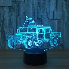 Car model 3D Lamp 7 Color Chang Small Night Light Baby Bluetooth Speakers lights LED USB Desk lamp For Kid's Gift #Affiliate