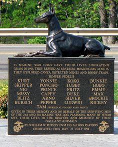 Memorial to war dogs Military Working Dogs, Military Dogs, Monuments, War Dogs, Dog Memorial, Doberman Pinscher, Service Dogs, Mans Best Friend, Dog Cat