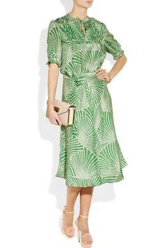 Collette by Collette Dinnigan|Printed silk dress|NET-A-PORTER.COM