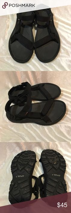 TEVA all black sandals size 10 Size 10 Tevas. Excellent used condition. No rips stains or odors. Comes from a smoke free home. Always open to offers😊 Teva Shoes Sandals