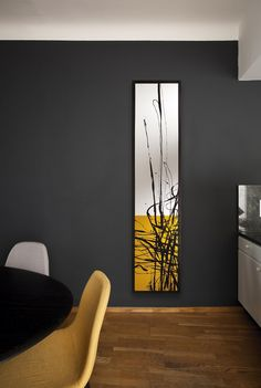 """""""Dune"""" Art radiator by Cinier. Collection """"Piece Unique"""" Artist: Johanne Cinier, handpainted in France. Texture Painting On Canvas, Abstract Canvas Art, Diy Canvas Art, Oil Painting Abstract, Diy Painting, Home Art, Art Deco Paintings, Modern Art Paintings, Room Decor"""
