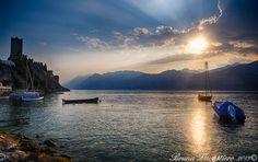 Sunset in Malcesine by Bruna Zavattiero on 500px  #Gardaconcierge