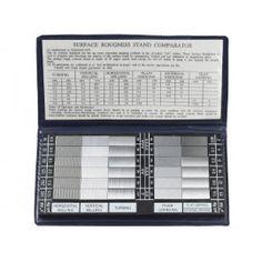 Mierky drsnosti povrchov, prenosné meradlo pre meranie drsnosti povrchu materiálov na porovnanie a stanovenie hladkosti povrchu Gauges, Surface, Ears Piercing, Plugs