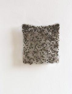 Christiane Loehr - Durchlässiges Flies, permeable fleece, 2010, plant seeds, dog hair