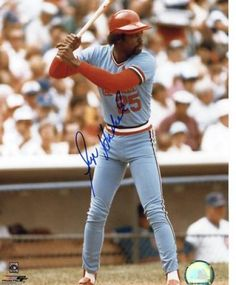 Silent GEORGE HENDRICK:    OF with the Cardinals and member of the 1982 World Championship team