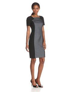 Short-Sleeve Sheath Dress by Anne Klein