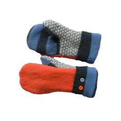 Hey, I found this really awesome Etsy listing at https://www.etsy.com/listing/226830151/orange-and-blue-wool-sweater-mittens