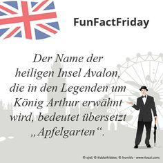 """#FunFactFriday bei THE BRITISH SHOP: Der Name der heiligen Insel Avalon, die in den Legenden um König Arthur erwähnt wird, bedeutet übersetzt """"Apfelgarten""""."""