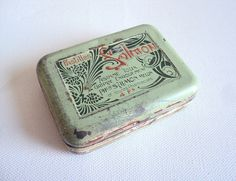 French Art Nouveau Medicine Pill Tin Vintage by LaBelleEpoqueDeco