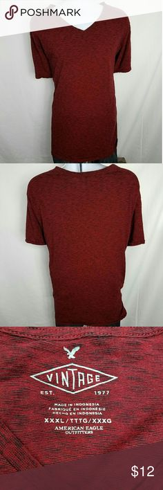 American Eagle Vintage V Neck XXXL Cotton Tee Great Condition!  Very Soft Material.   Chest Front - 25 Inches Shoulder to Hem - 30 Inches American Eagle Outfitters Shirts Tees - Short Sleeve
