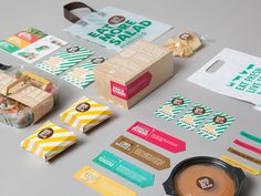 Take a look at this great branding and identity project by Colombian design studio Masif for a project called Sandwich or Salad. There is no further info on this project other than the name, so you. Corporate Design, Brand Identity Design, Graphic Design Branding, Corporate Identity, Visual Identity, Stationery Design, Design Agency, Design Corporativo, Design Visual