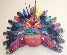 Native American Gourd Mask By Artist Doug Fountain African Masks, African Art, Native American Decor, Ceramic Mask, Mask Painting, Gourd Crafts, African Sculptures, Paper Dolls, Art Dolls