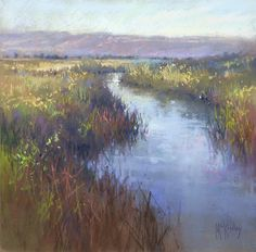 Reflective Journey by Richard McKinley Pastel ~ 12 x 12.  I love how he handles the tall grass here. Also love his loose style and use of color.