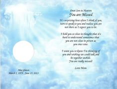 I'm Free Personalized Memorial Poem for Loss of Mom Dad ...