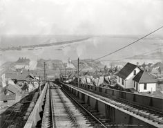 "Circa 1905. ""Minnesota Point from Incline Railway, Duluth."" Our third look this week at the Zenith City. Detroit Publishing Co. glass negative."