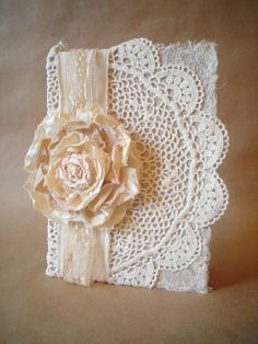 homemade shabby chic notebook covers - Google Search