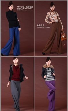 free shipping fashion plus size XXXL XXL 2012 spring summer high waist wide leg pants womens culottes casual trousers for woman-inPants & Capris from Apparel & Accessories on Aliexpress.com