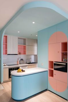 Apartment Interior, Apartment Living, Kitchen Interior, Kitchen Decor, Bauhaus, Vietnam, Mint Green Walls, Retro, Milk Shop