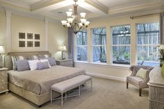 Sophisticated Master's Suite   The Anniston Model by CalAtlantic Homes in The Grove at Twenty Mile