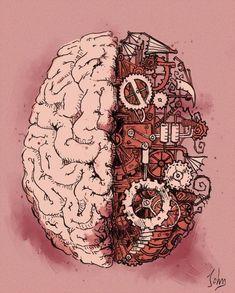 Steampunk Brain by BenJogan Brain Drawing, Brain Art, The Brain, Arte Com Grey's Anatomy, Anatomy Art, Human Heart Tattoo, Steampunk Kunst, Brain Illustration, Medical Wallpaper