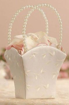 Lillian Rose FB700 I Elegant Wedding Basket Ivory