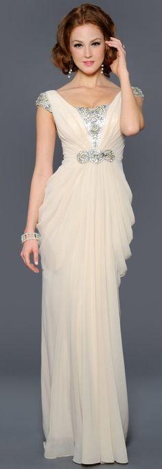 Draped Chiffon Gown from Lara Designs