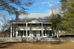 Evans County GA Bay Branch Church Road Antebellum Plantation Fancy House White Picket Fence Architectural Landmark Picture Image Photograph © Brian Brown Vanishing South Georgia USA 2013
